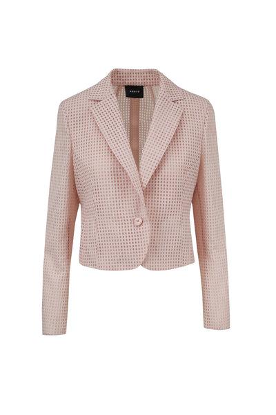 Akris - Ambrosia Blush Square Ajouré Embroidered Jacket