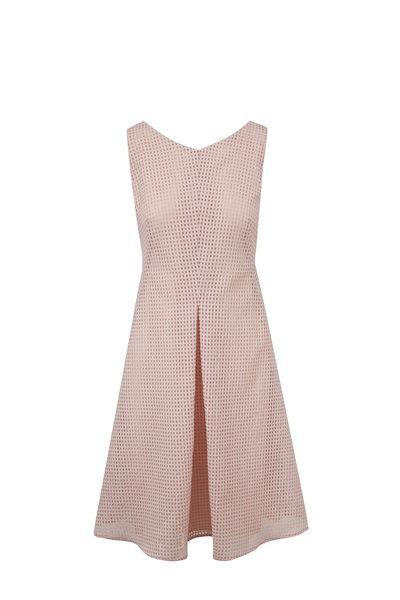 Akris - Blush Square Ajouré Embroidered Dress
