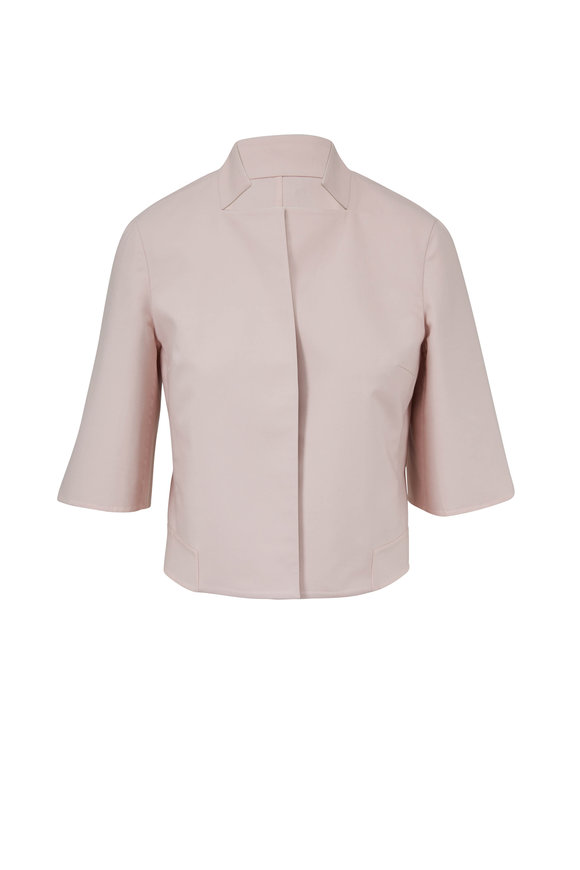 Akris Blush & Canvas Double-Faced Reversible Jacket