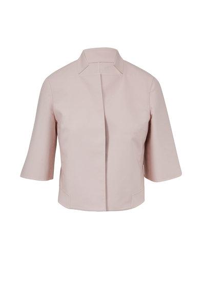 Akris - Blush & Canvas Double-Faced Reversible Jacket