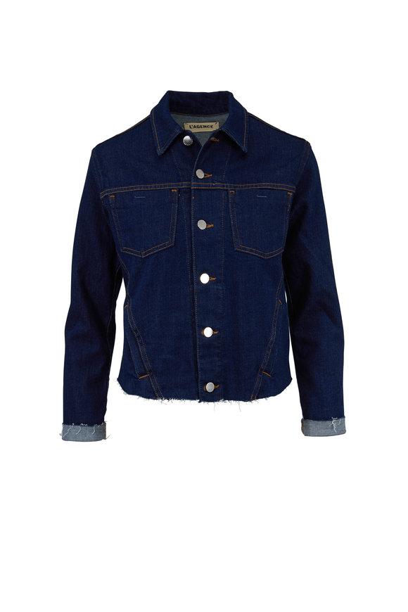 L'Agence Janelle Slim Fit Denim Jacket