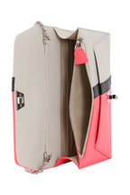 Akris - Anouk Pink & Alabaster Leather Small Crossbody