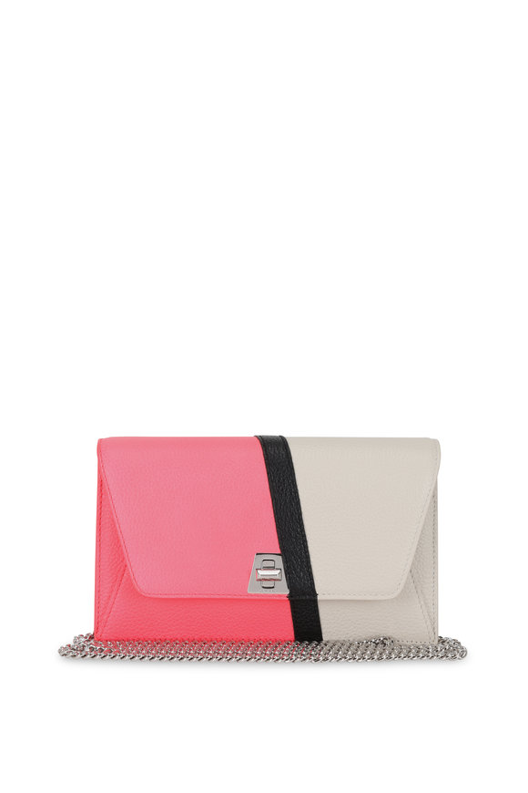 Akris Anouk Pink & Alabaster Leather Small Crossbody