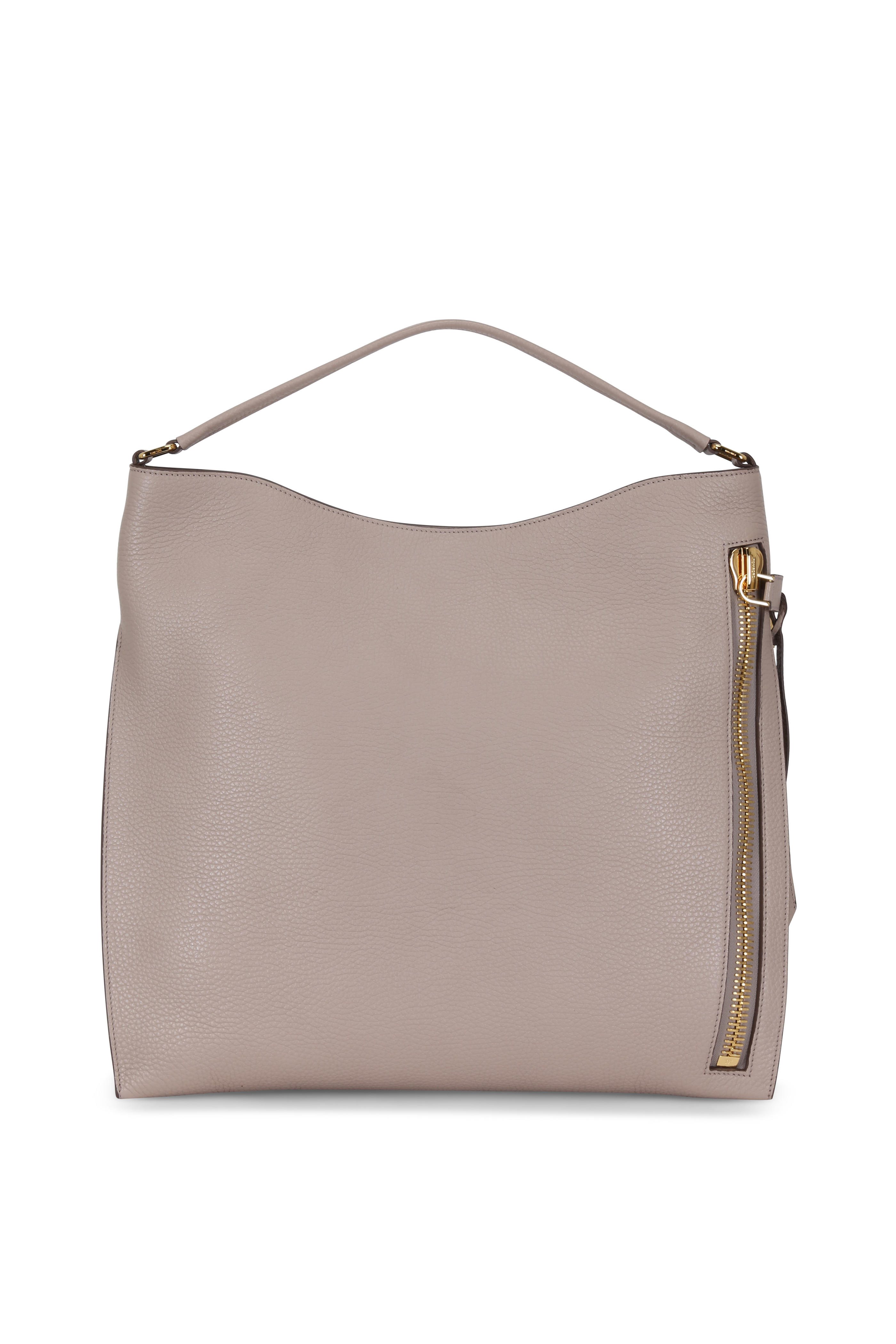 9b5ab0616 Tom Ford - Alix Taupe Leather Large Hobo Bag | Mitchell Stores