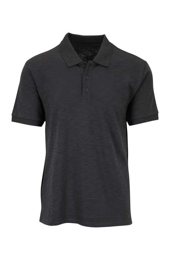 Vince Sphere Gray Slub  Cotton Classic Polo