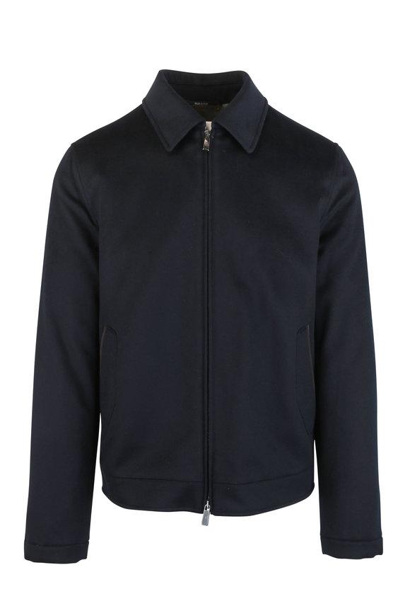 Ermenegildo Zegna Navy Blue Cashmere Jacket