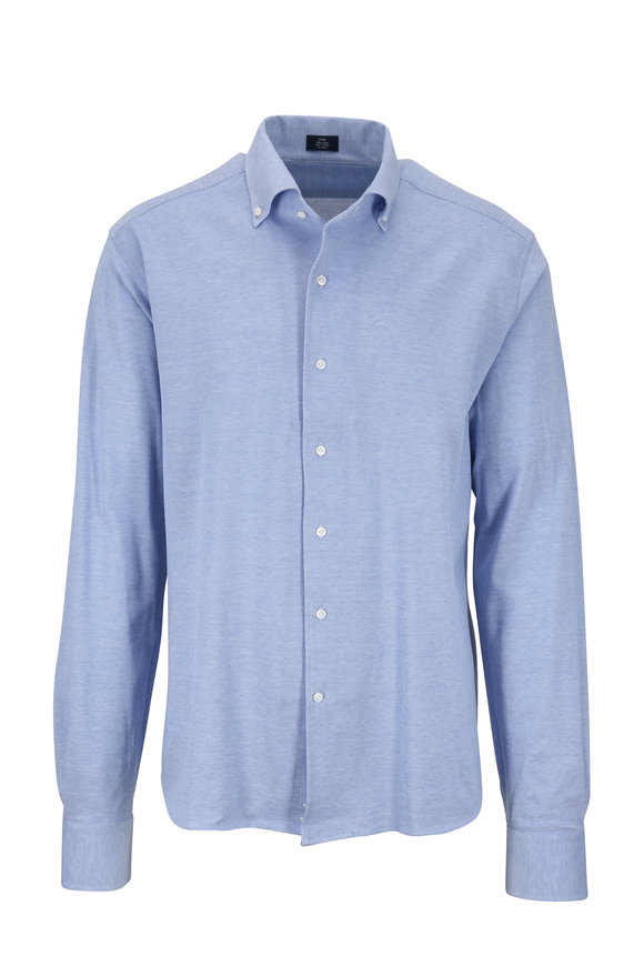 Peter Millar Summer Mesh Blue Jersey Knit Shirt