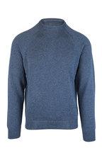 Peter Millar - Amalfi Avion Blue Cotton & Linen Sweater
