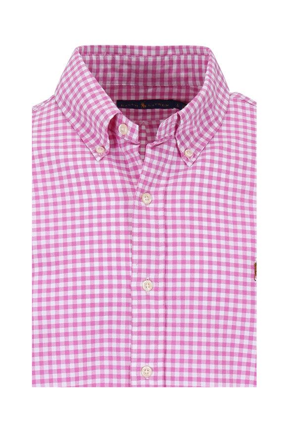Polo Ralph Lauren Pink & White Check Cotton Sport Shirt