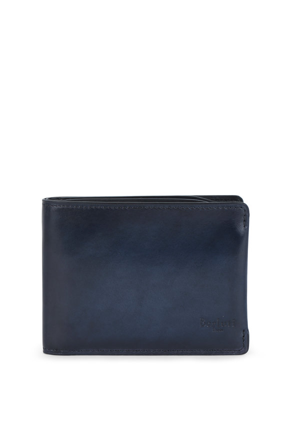 Berluti Essential Navy Blue Leather Wallet