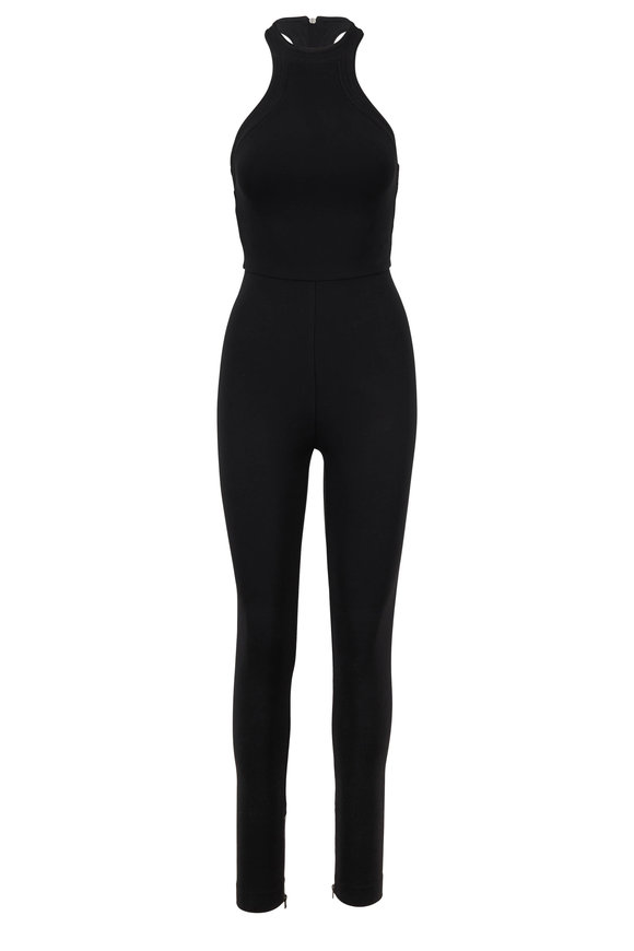 Tom Ford Black Compact Jersey Racerback Jumpsuit