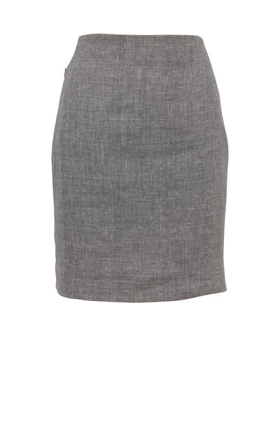 Akris - Titan Linen & Wool Pencil Skirt