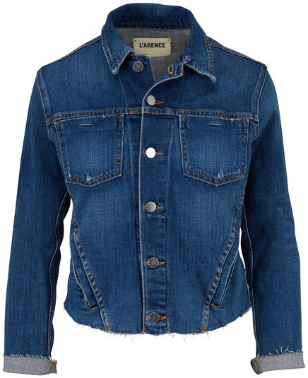 L'Agence Janelle Slim Fit Jean Jacket