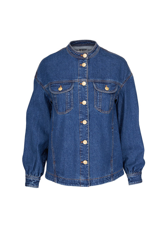 CO Collection Gathered Denim Jacket