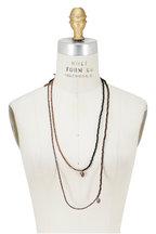 Brunello Cucinelli - Brown Wood & Hematite Diamante Dangle Necklace
