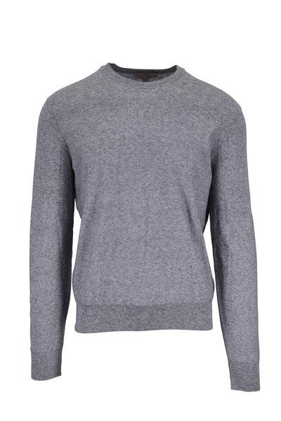 Canali - Gray Cotton Crewneck Pullover