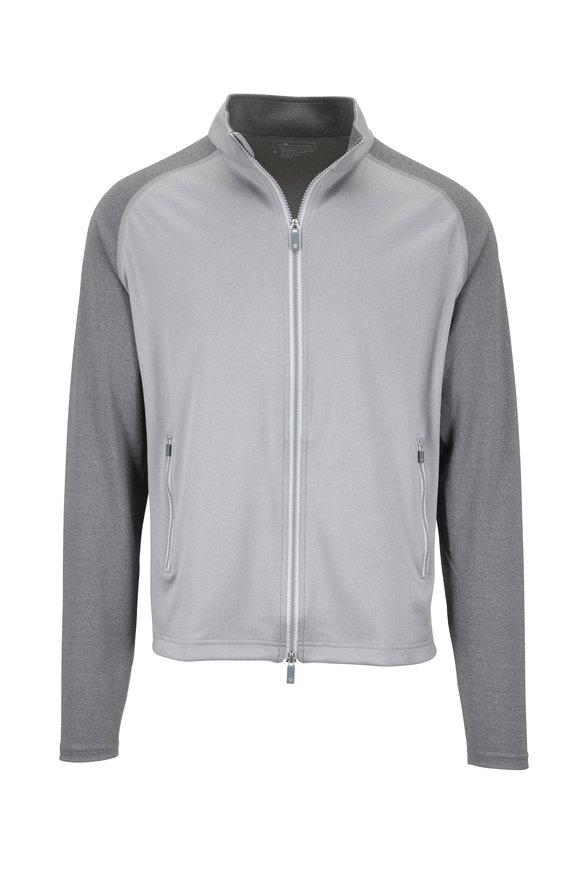 Peter Millar Crown Sport Gale Grey Zip Jacket