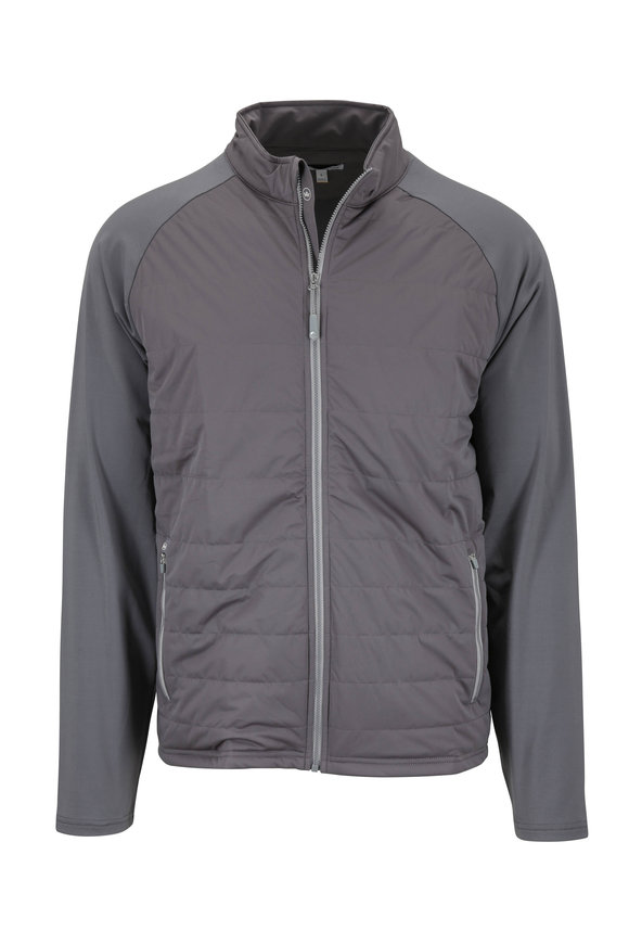 Peter Millar Smoke Gray Quilted Front Jacket