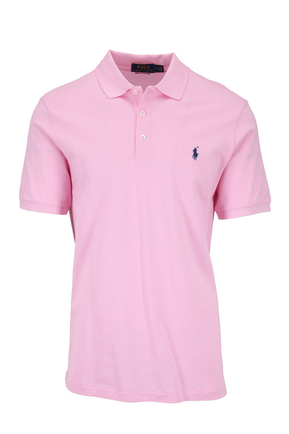Polo Ralph Lauren Solid Pink Cotton Classic Fit Polo