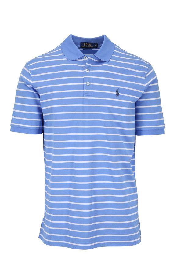 Polo Ralph Lauren Blue & White Striped Cotton Polo