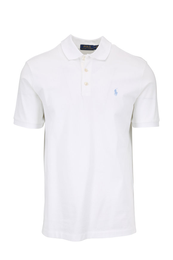 Polo Ralph Lauren Solid White Cotton Classic Fit Polo