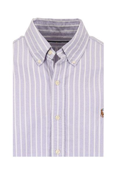 Polo Ralph Lauren - Slate & White Striped Cotton Sport Shirt