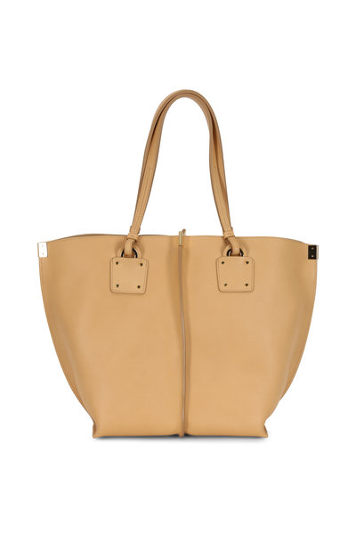 Chloé - Vick Beige Leather Medium Tote