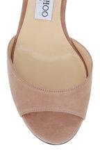 Jimmy Choo - Miranda Ballet Pink Suede Sandal, 65mm