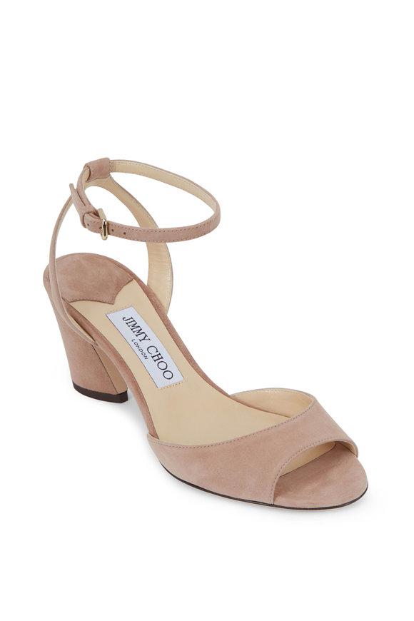 Jimmy Choo Miranda Ballet Pink Suede Sandal, 65mm