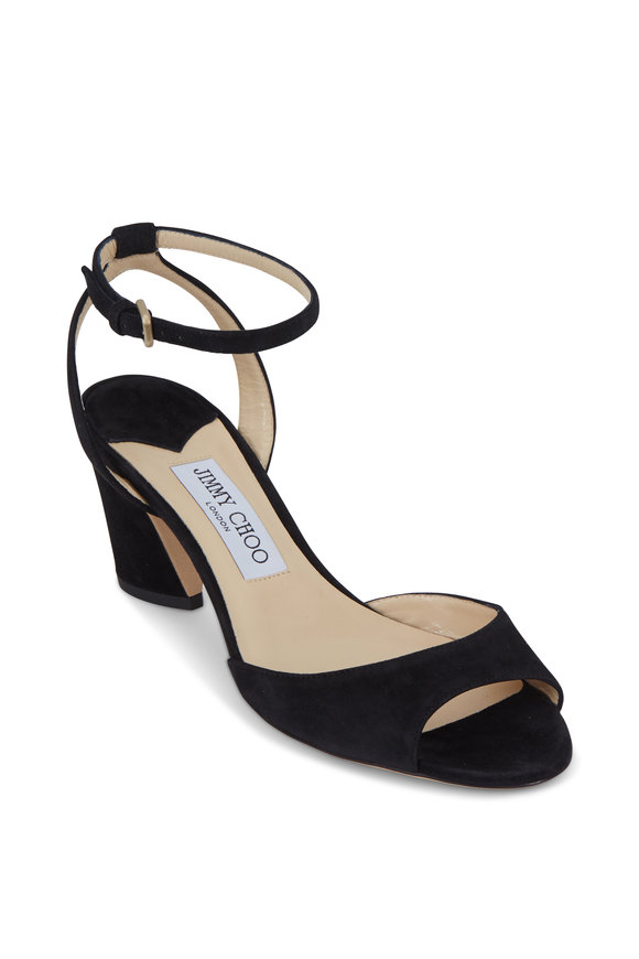 Jimmy Choo Miranda Black Suede Sandal, 65mm