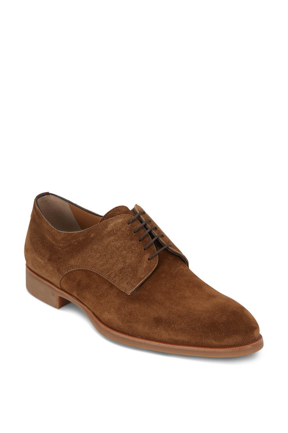 Di Bianco Medium Brown Suede Derby Shoe