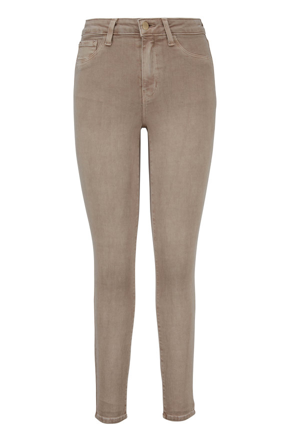 L'Agence Margot Tan High-Rise Ankle Jean