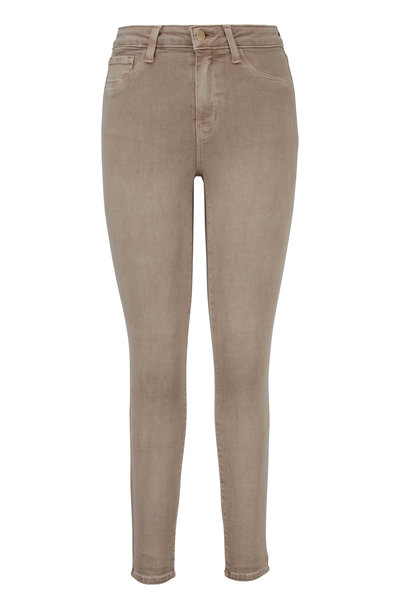 L'Agence - Margot Tan High-Rise Ankle Jean