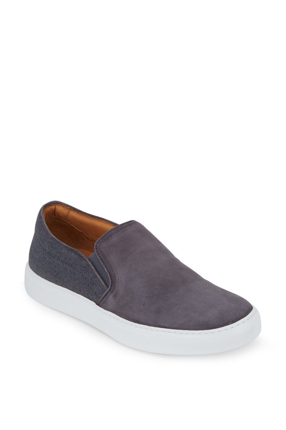 To Boot New York Cordoba Gray Suede & Denim Slip-On Sneaker