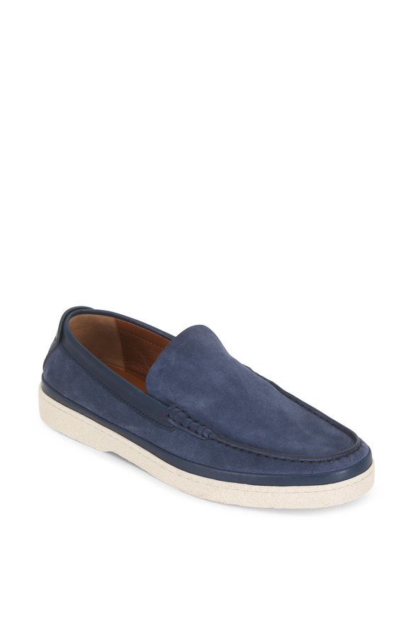 Ermenegildo Zegna Medium Blue Suede Loafer