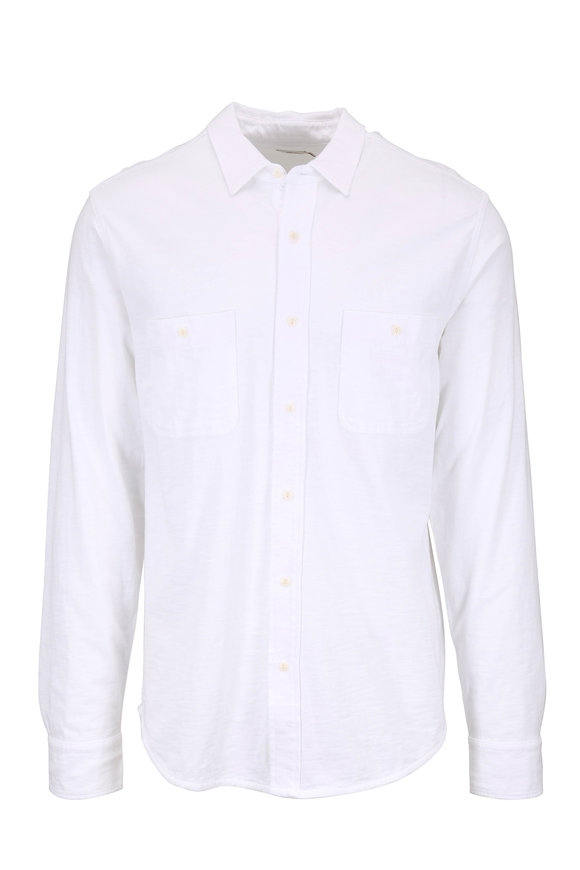 Faherty Brand Seasons White Cotton Shirt