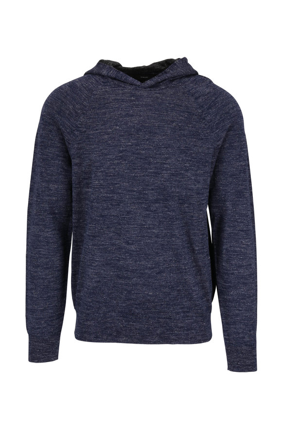 Vince Coastal Blue & Gray Colorblock Hoodie