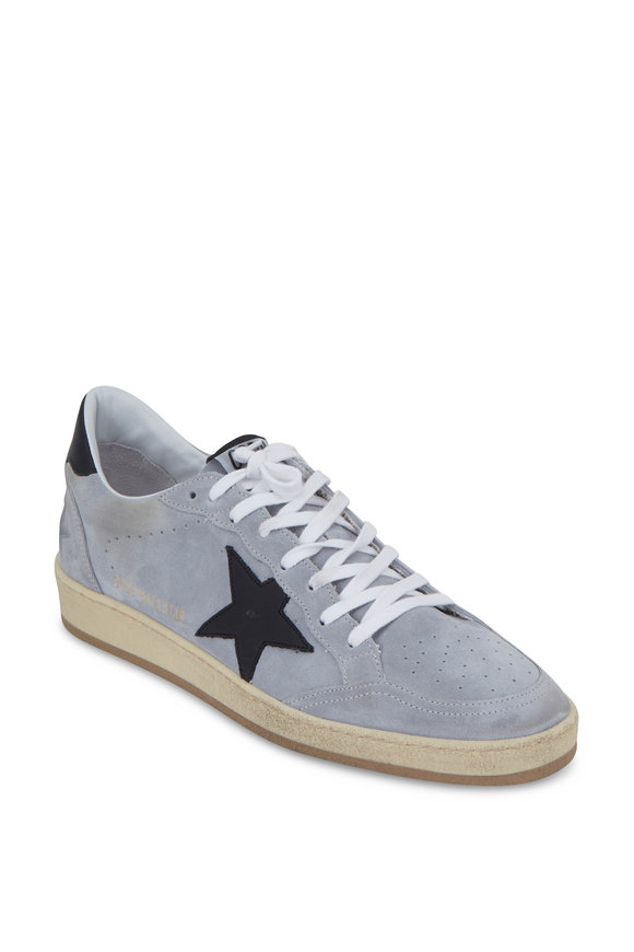 Golden Goose Men's Ball Star Gray Suede Leather Sneaker
