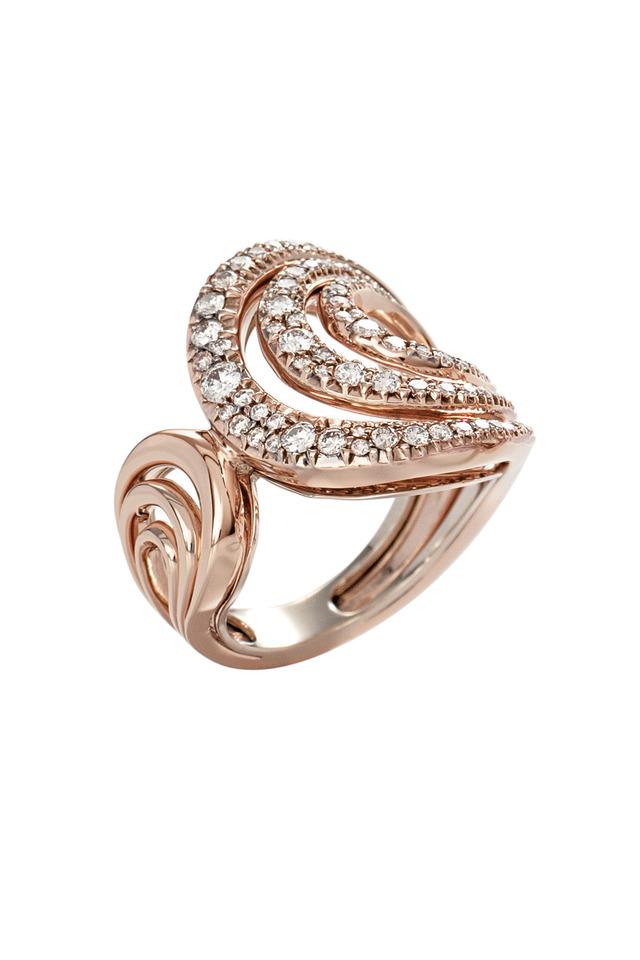 Iris Rose Gold White Diamond Ring