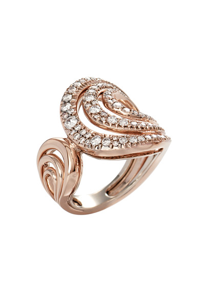 H. Stern - Iris Rose Gold White Diamond Ring