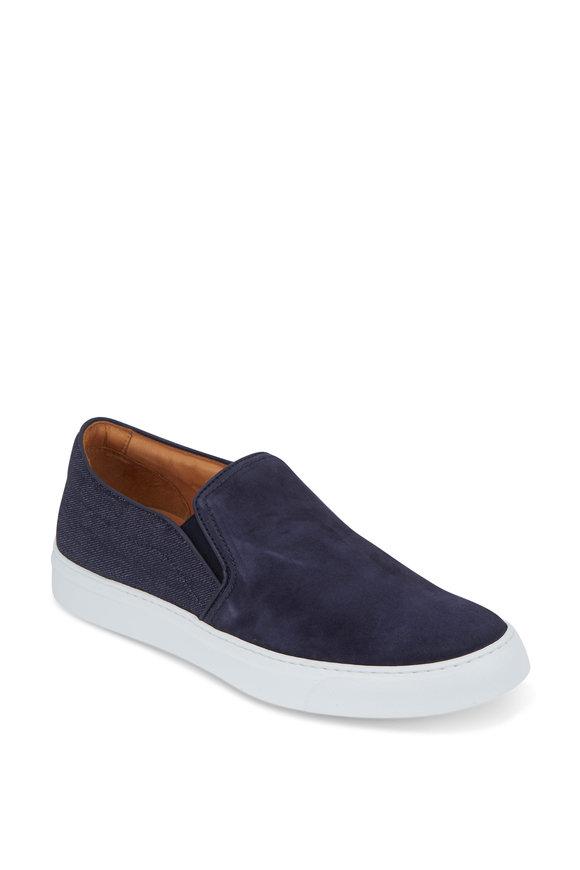 To Boot New York Cordoba Blueprint Suede & Denim Slip-On Sneaker