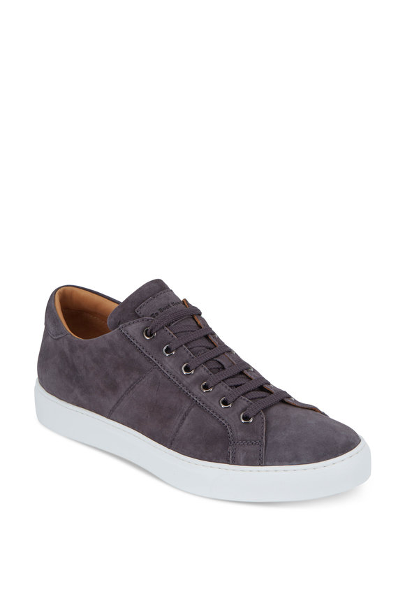 To Boot New York Colton Avion Slate Blue Suede Lace-Up Sneaker