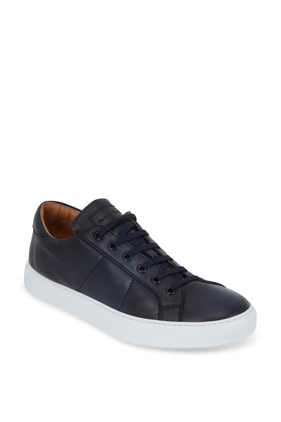 To Boot New York Colton Navy Blue Quilted Leather Sneaker