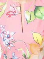 Carolina Herrera - Coral Stretch Cotton Floral A-Line Dress