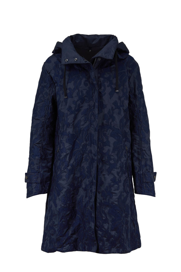 Bogner Tea Midnight Embroidered Trench Coat