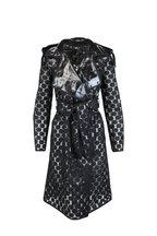 Akris Punto - Black Dot Reversible Hooded Raincoat