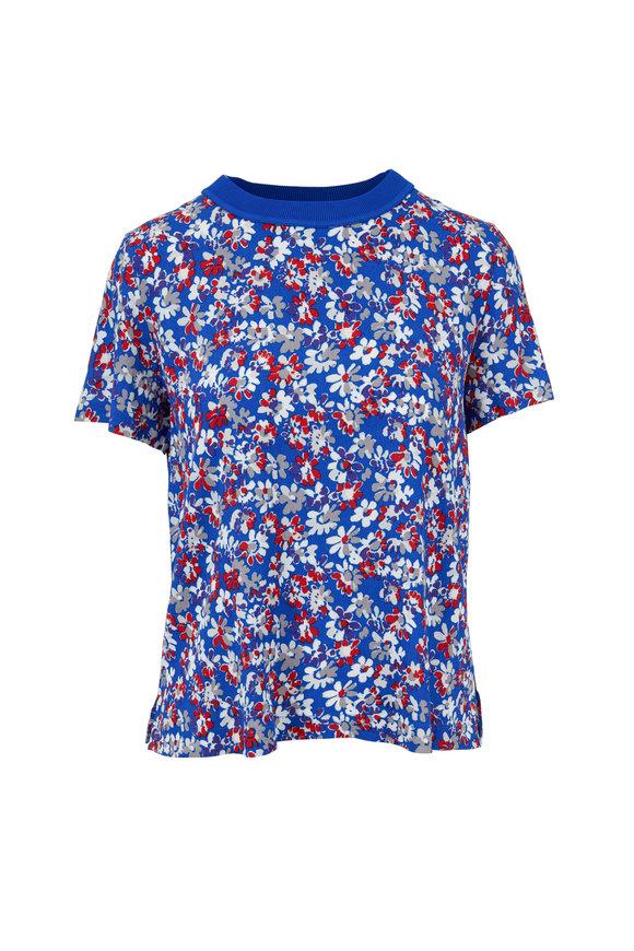 Rag & Bone Sloane Blue Multicolor Floral T-Shirt