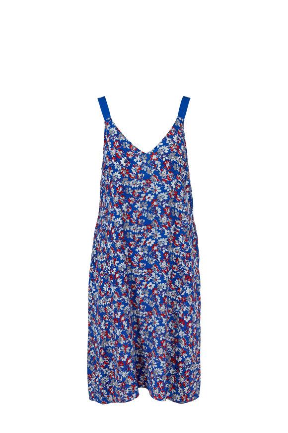 Rag & Bone Zelda Blue Multi Floral Printed Dress