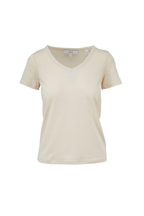 Vince Fennel Short Sleeve V-Neck S-Shirt
