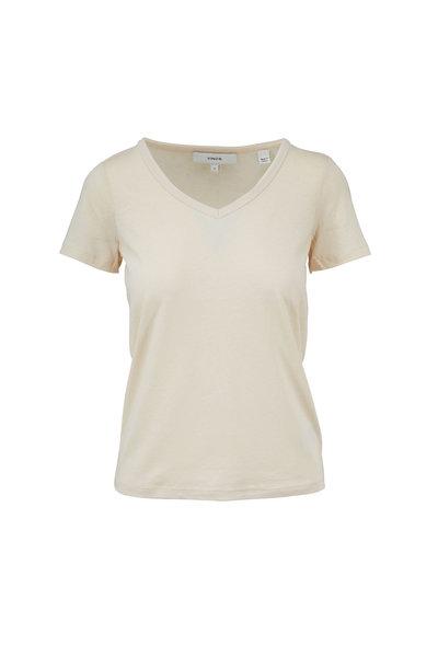 Vince - Fennel Short Sleeve V-Neck S-Shirt